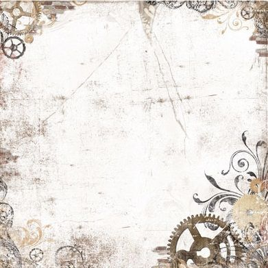 Paper - gears corner accents - masculine background paper: