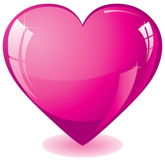 hot pink heart transparent background