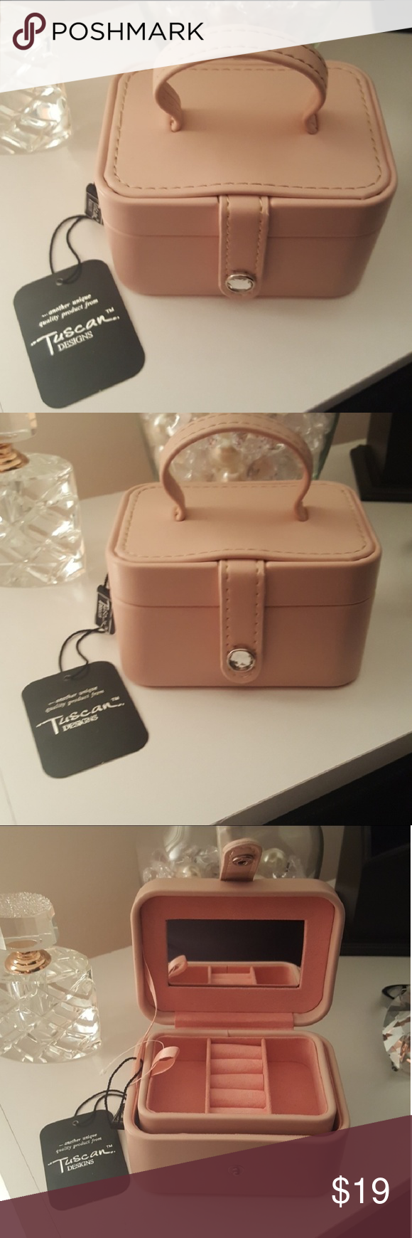 NWT Tuscan Designs blush travel jewelry box Travel jewelry box