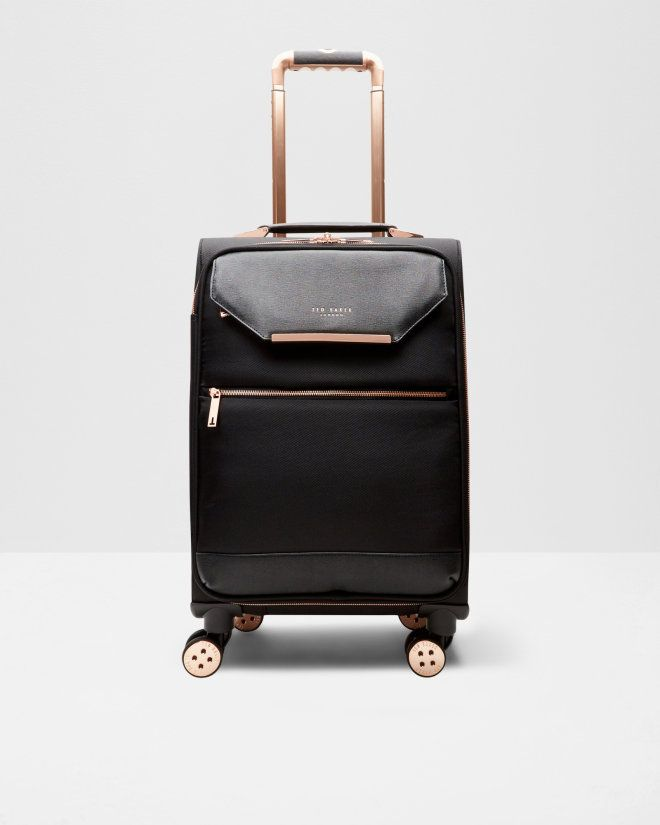 e1217dee7 Metallic trim small suitcase - Black | Bags | Ted Baker UK Bolsas, Equipaje,