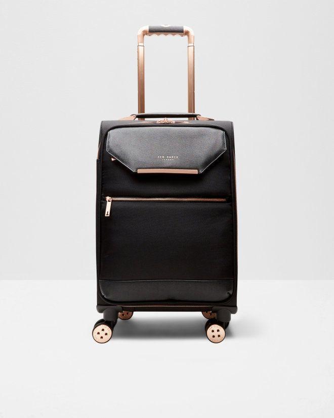 32ca58b1387e Metallic trim small suitcase - Black