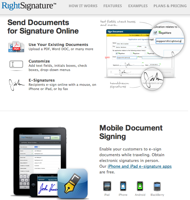 Rightsignature Easy Online Document Signing I M Using This E Signature Electronic Signature Document Sign