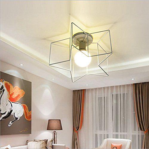 FAYM-Ideen Garten Wohnzimmer Esszimmer Schlafzimmer Eisen LED - hängelampen für wohnzimmer