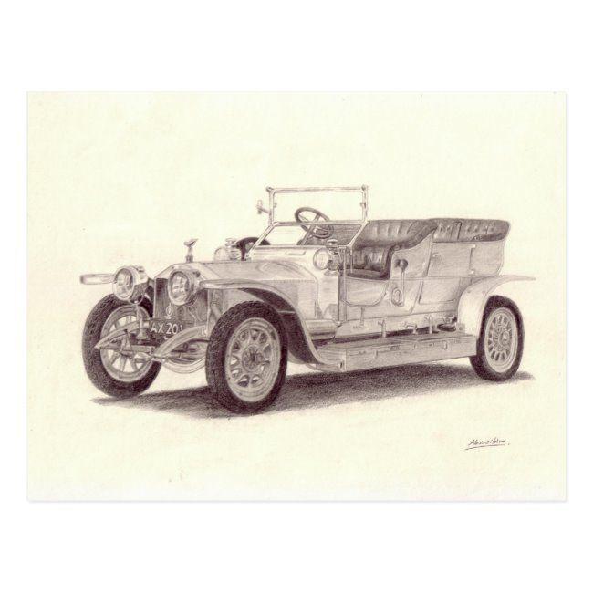 Vintage Car: Rolls Royce Silver Ghost Postcard | Zazzle.com
