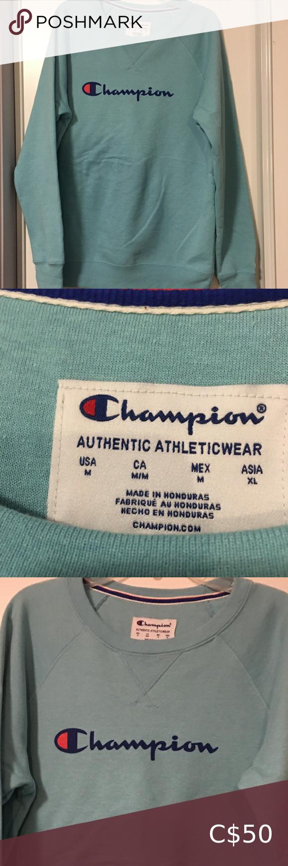 Champion Authentic Athleticwear Sweatshirt Sweatshirts Champion Sweatshirt Sweatshirt Tops [ 1740 x 580 Pixel ]