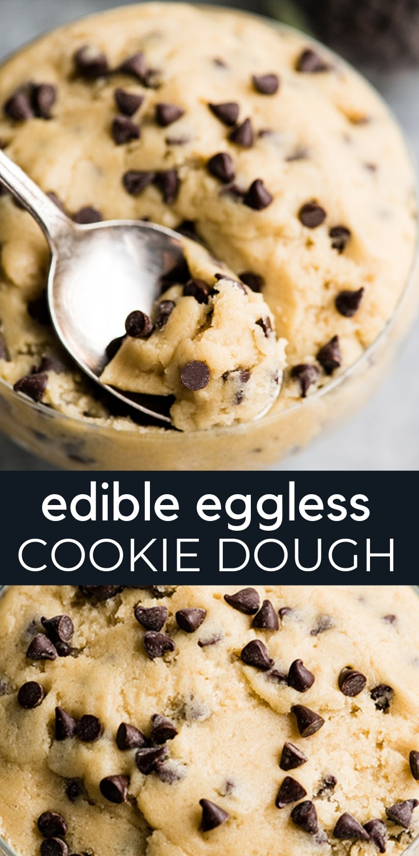 Eggless Edible Cookie Dough - JoyFoodSunshine