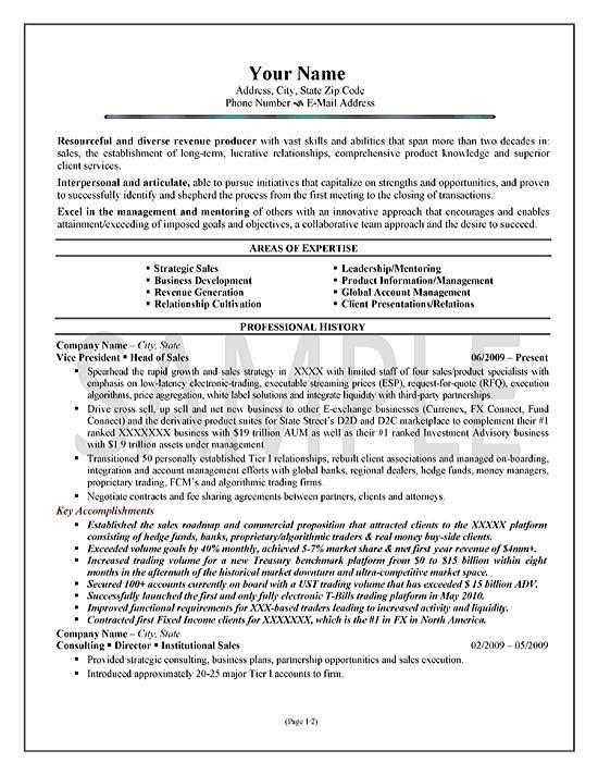 Executive Sales Resume Summary Examples Sales Resume Examples Sales Resume