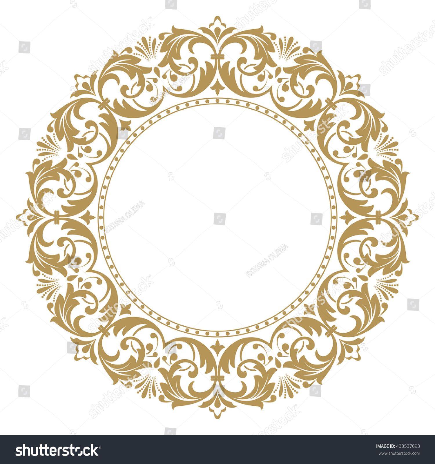Decorative Line Art Frames For Design Template Elegant Vector Element For Design In Eastern Style Place For Lace Painting Diy Wall Painting Decorative Lines