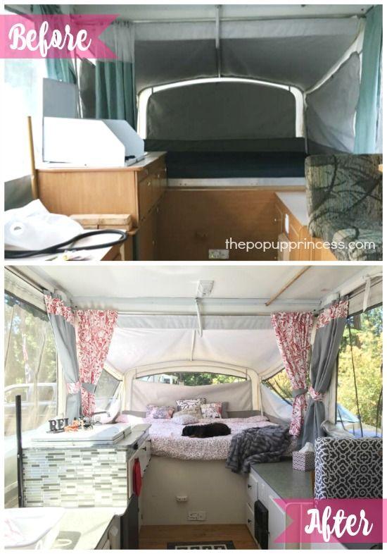 teresa s pop up camper remodel camper camper popup camper rh pinterest com