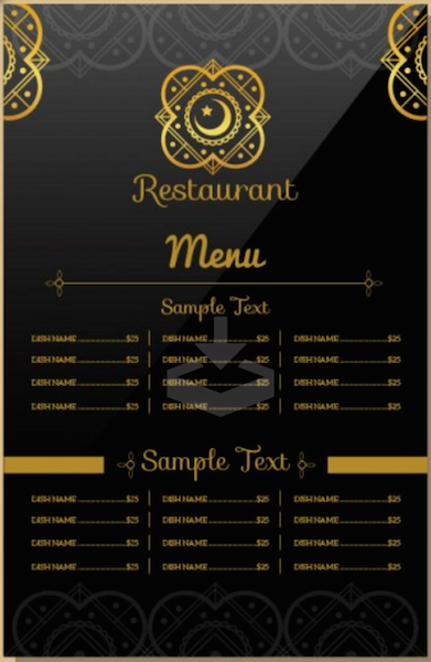 Indian Restaurant Menu Template  My Recipes    Menu