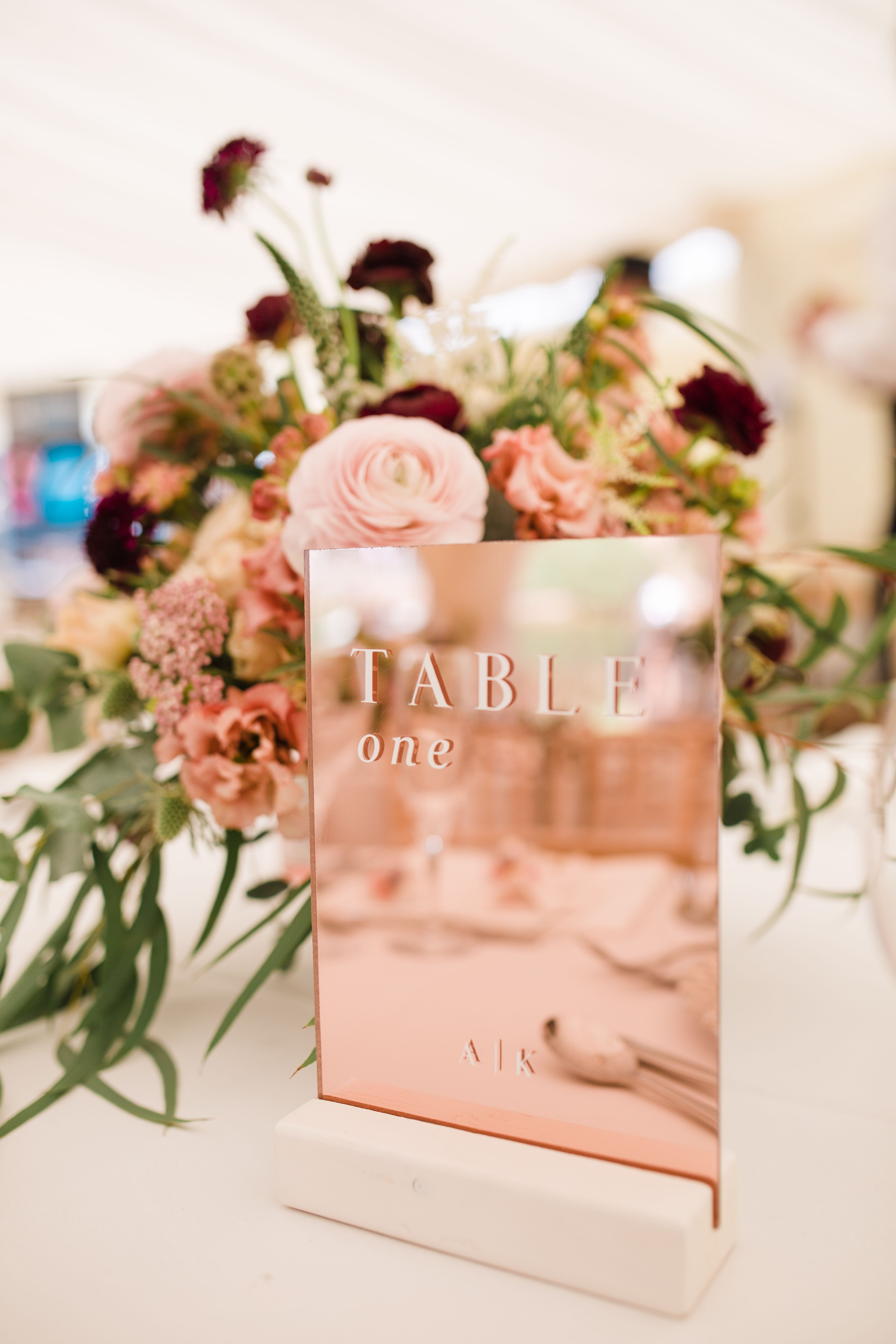 Rose Gold Mirror Wedding Table Numbers Wedding Table Numbers Unique Table Numbers Mirror Wedding Table Numbers