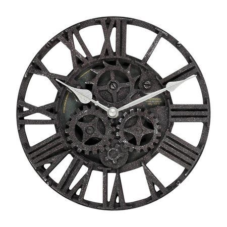 Gear Wall Decor threshold™ rustic gear wall clock, unconventional timekeeper for