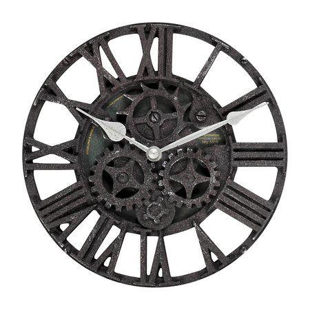 Threshold Rustic Gear Wall Clock Unconventional
