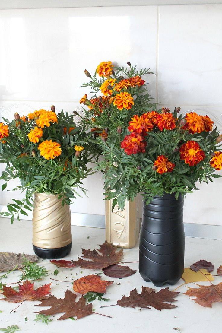 Diy flower vase made with recycled plastic bottle flower vases diy flower vase made with recycled plastic bottle reviewsmspy