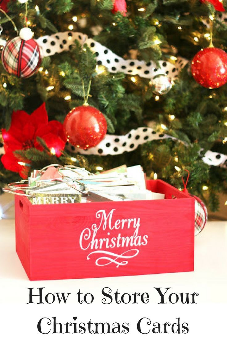 Best Way To Store Your Christmas Cards | Organizing, Holidays and Store