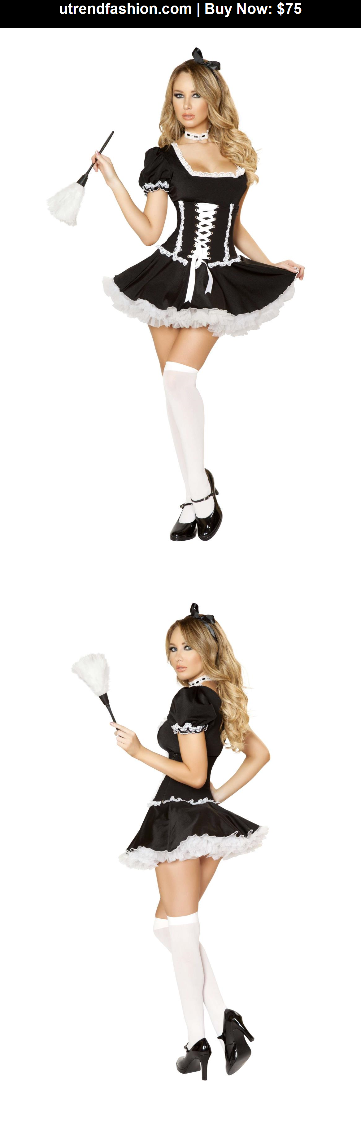 -Costume-Maiden: Material: Nylon/Spandex 4pc Mischievous Maid - BUY IT NOW ONLY $75