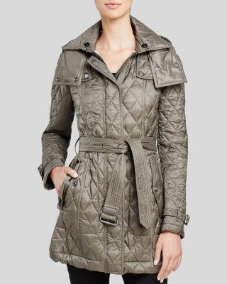 Burberry Finsbridge Long Quilted Coat Burberry Cloth Coat
