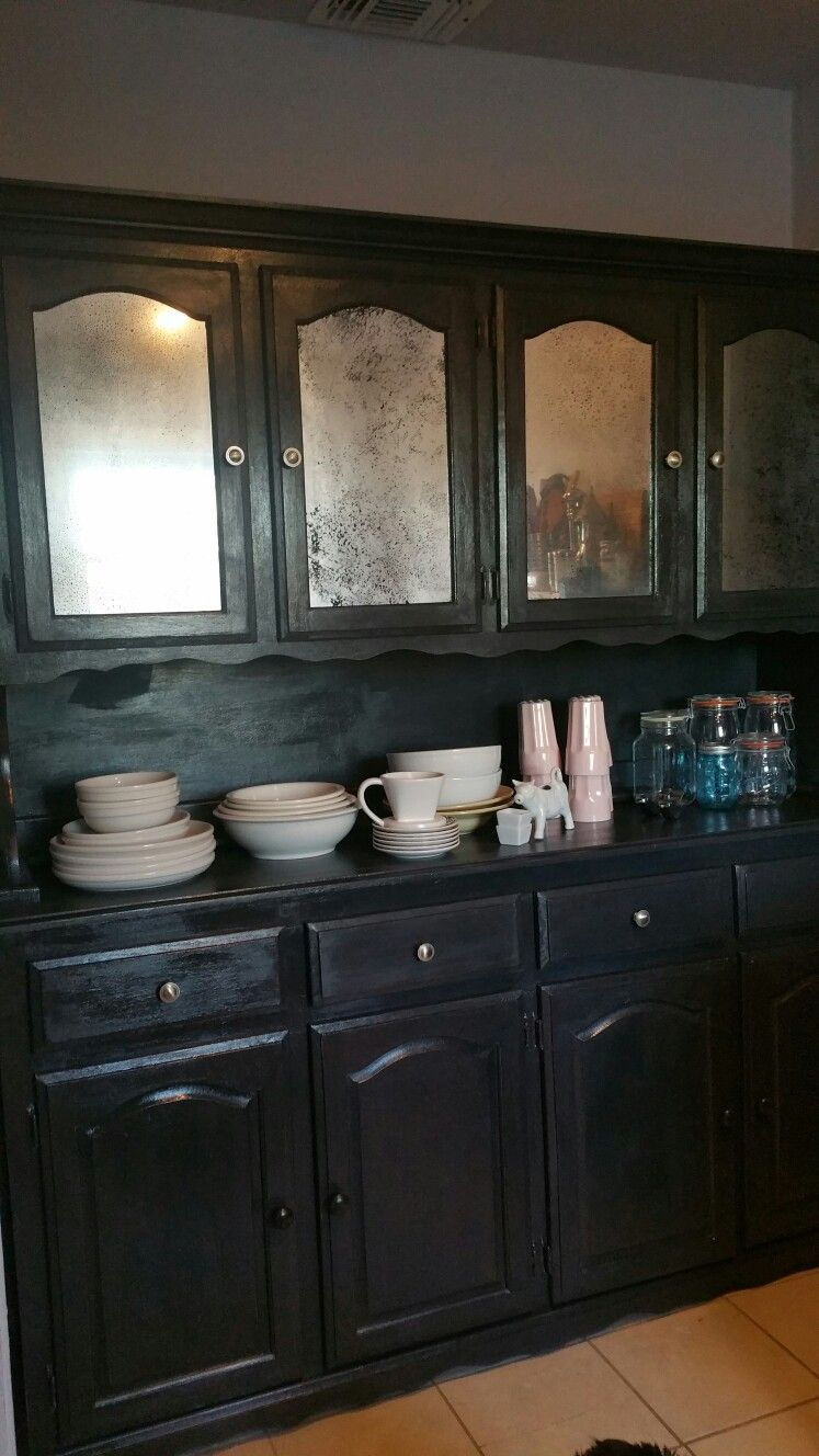 Pantry makeover with chalk paint and   diy mercury glass