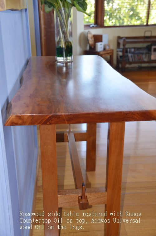 Merveilleux Rosewood Furniture Restored With Kunos Countertop Oil And Ardvos Universal  Wood Oil.