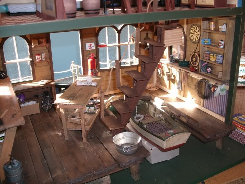 Totally blown away by this dollhouse miniature boathouse