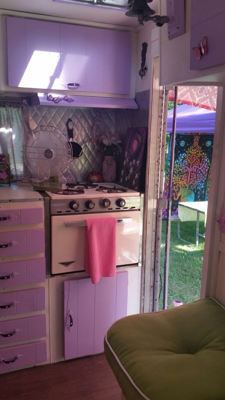 The Lovely Lady 1967 Shasta Compact kitchen vintage camper ...