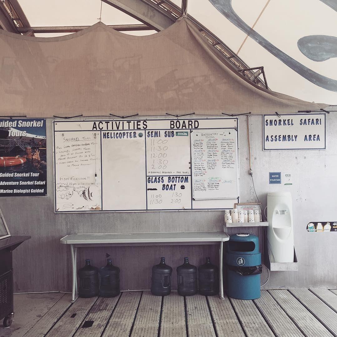 액티비티 다하고싶어서 도착하자마자 스케줄확인. 반잠수함이랑 유리보트 연달아 타고 스노쿨링하고 헬멧다이빙하고 또 스노쿨링하고ㅋㅋ #케언즈 #그레이트베리어리프 #리프매직 #마린월드 #cairns #GreatBarrierReef #reefmagiccruises #reefmagic #marineworld #discoveryqueensland by mii_syd http://ift.tt/1UokkV2