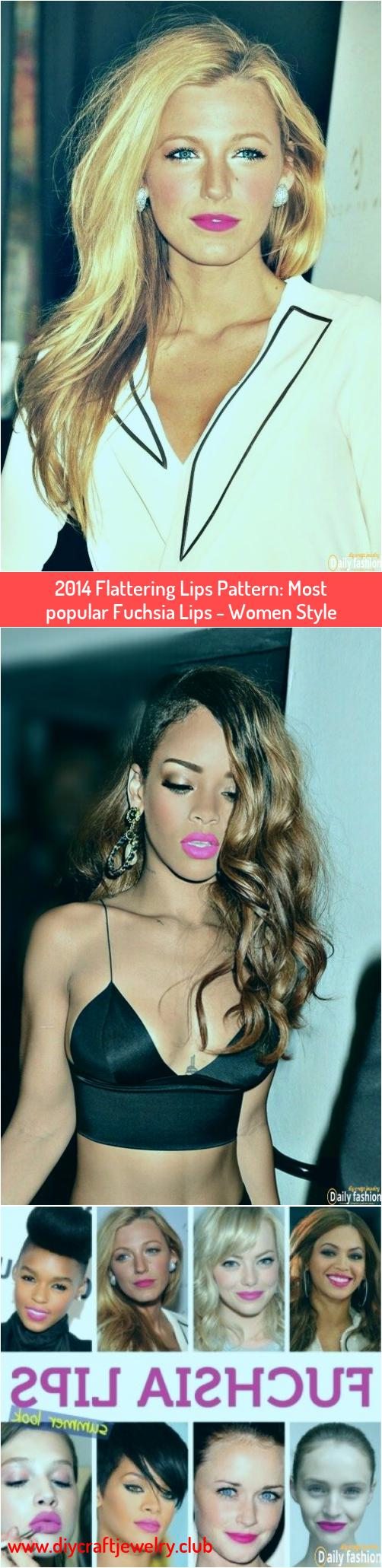 2014 Flattering Lips Pattern Most popular Fuchsia Lips