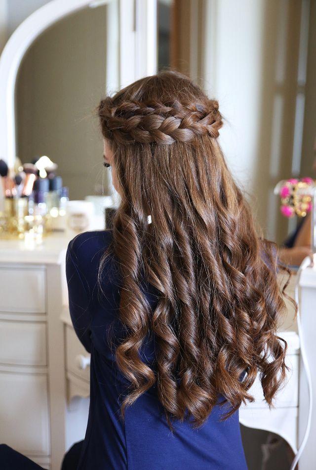 Easy Crown Braid Tutorial Hair Styles Princess Hairstyles
