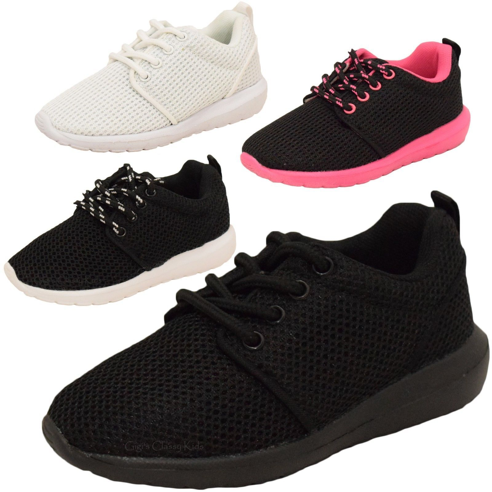 Baby Toddler Kids Mesh Tennis Shoes Sneakers Lace Up Boys Girls Unisex 4-9 New