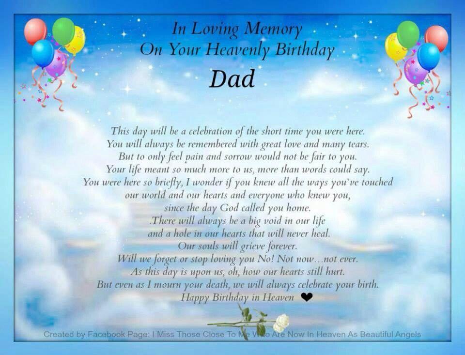 Happy Birthday Daddy Birthday in heaven, Birthday in