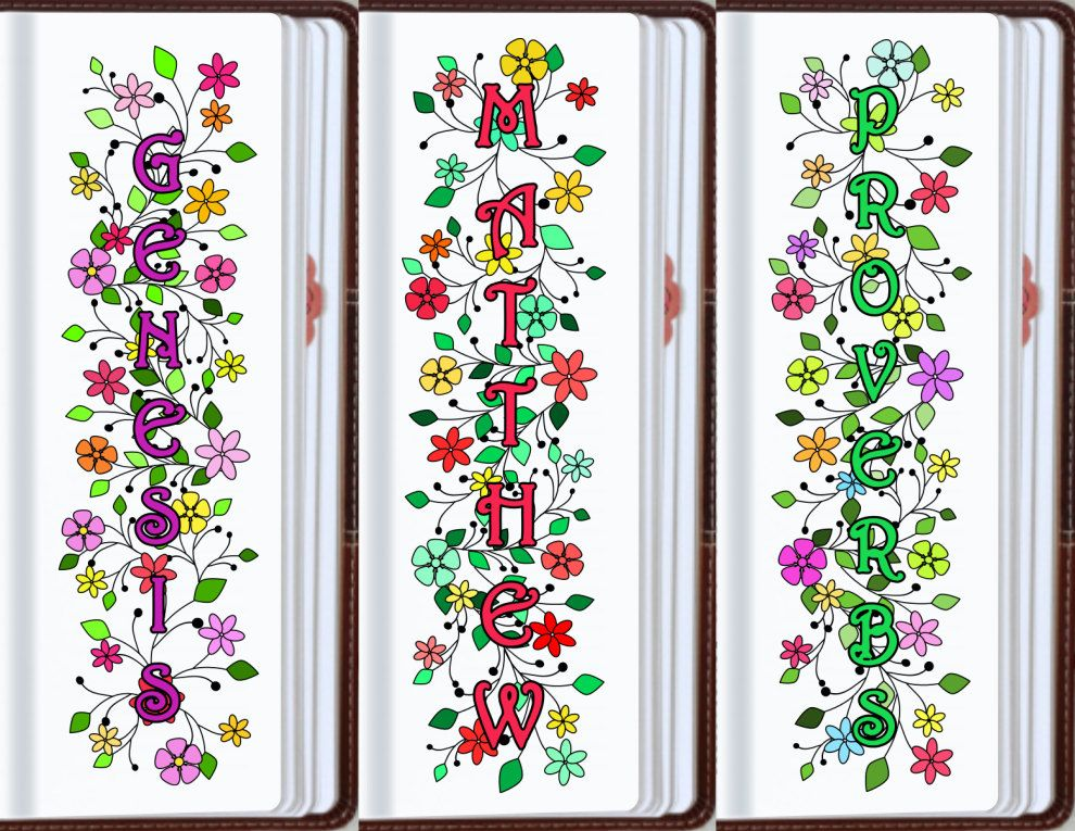 NAMES of 66 BIBLE BOOKS bible journaling by BibleVerseColoring