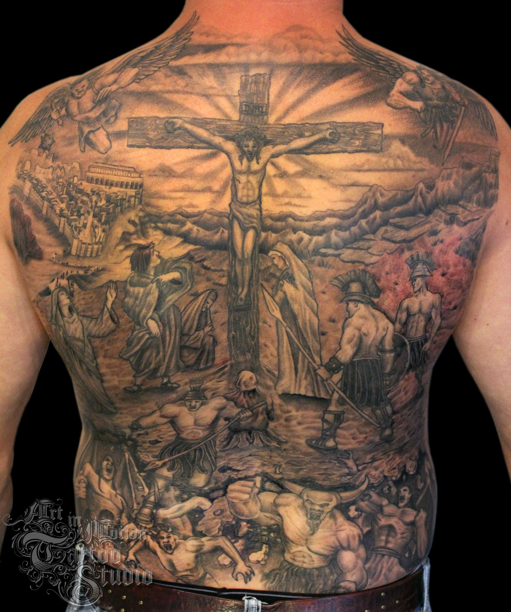 Download Free The Crucifixion Art In Motion Tattoo Studio To Use