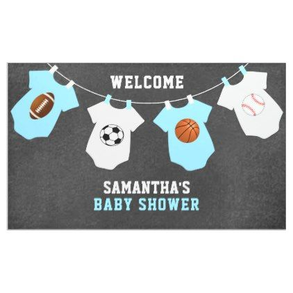 Custom welcome sports theme boy baby shower banner baby gifts custom welcome sports theme boy baby shower banner baby gifts child new born gift idea negle Gallery