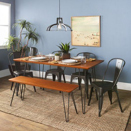 Pleasant Manor Park 6 Piece Mid Century Modern Dining Table Set Onthecornerstone Fun Painted Chair Ideas Images Onthecornerstoneorg