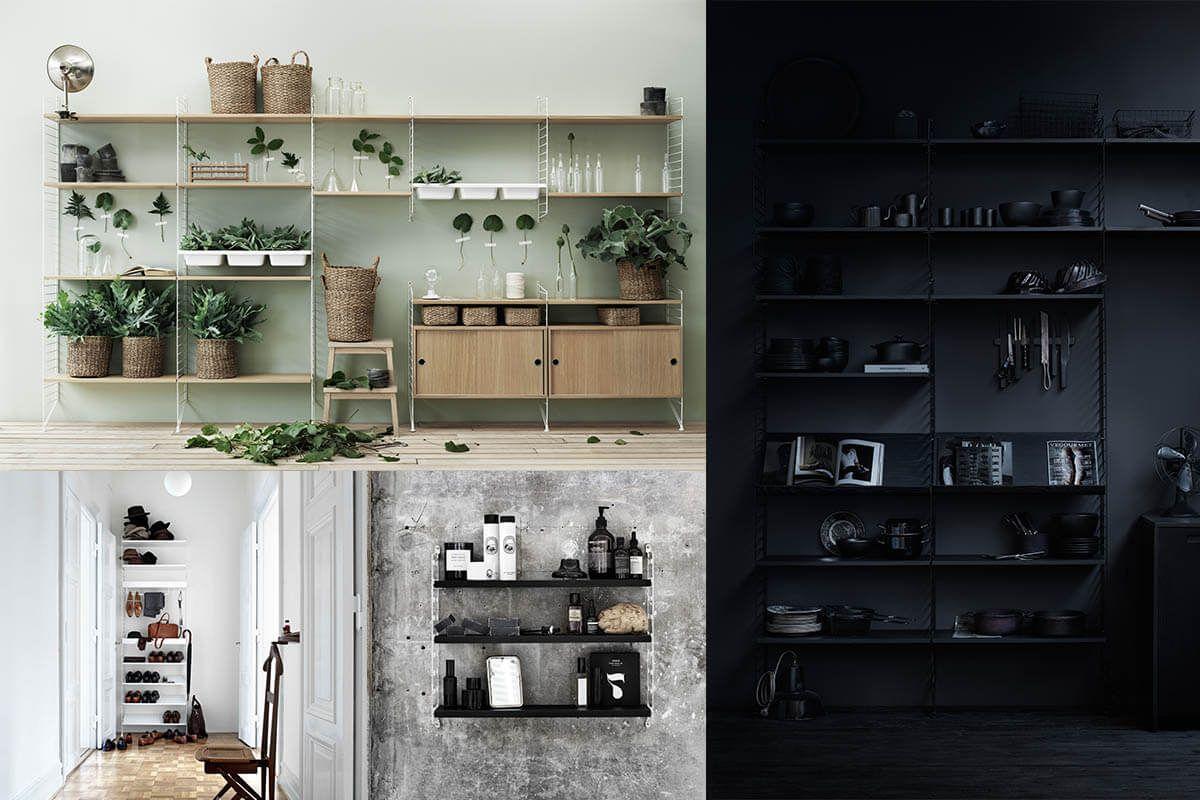 In Or Out Designklassiker String Regal Von Nisse Strinning Living