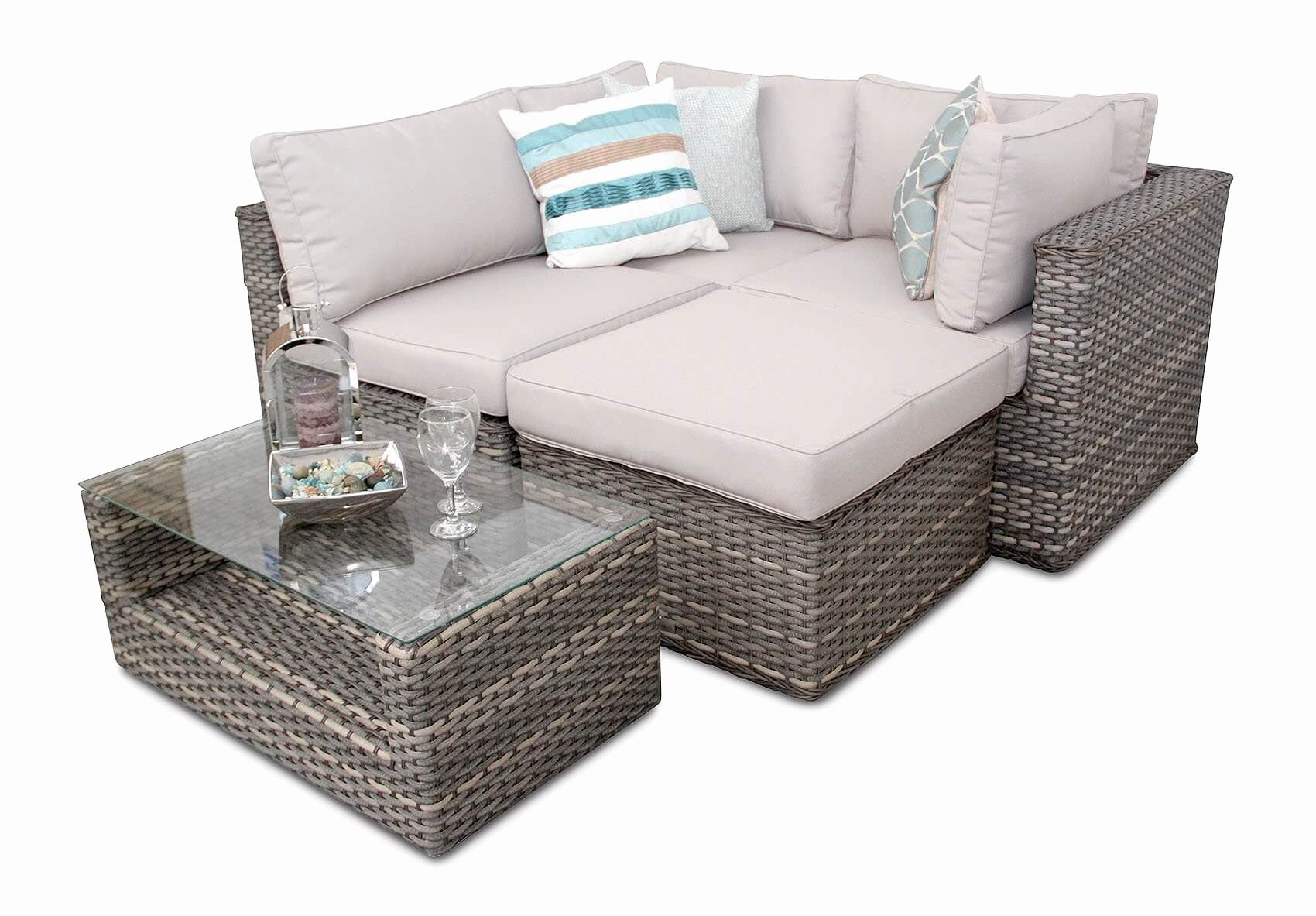 Lovely Small Outdoor Corner sofa Image small rattan outdoor corner