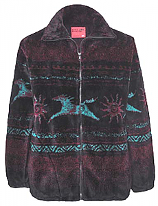 Black Mountain Star Tribal Horses Plush Fleece Jacket Adult (XS ...