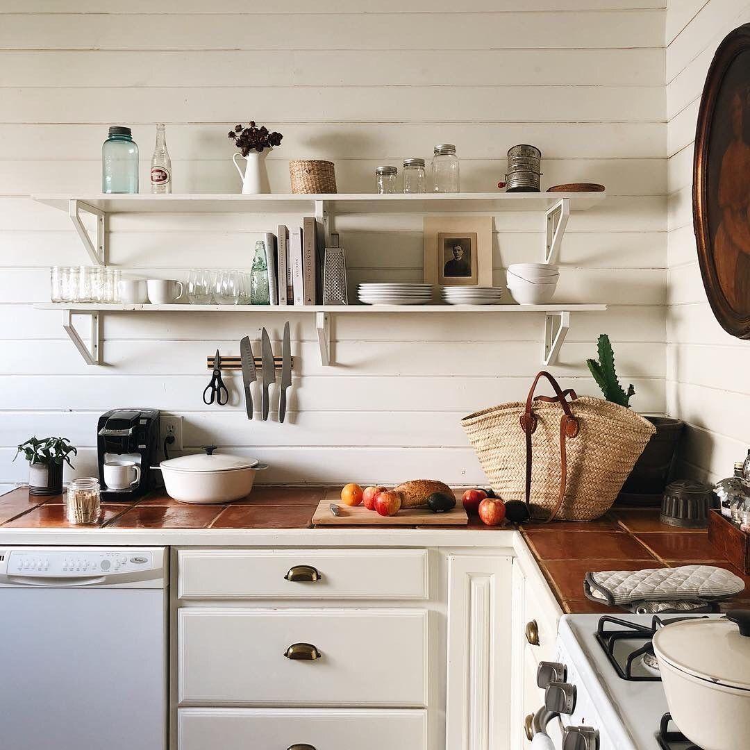 oldfarmhouse open shelving https www instagram com burtsbrisplease home kitchens open on farmhouse kitchen open shelves id=65158