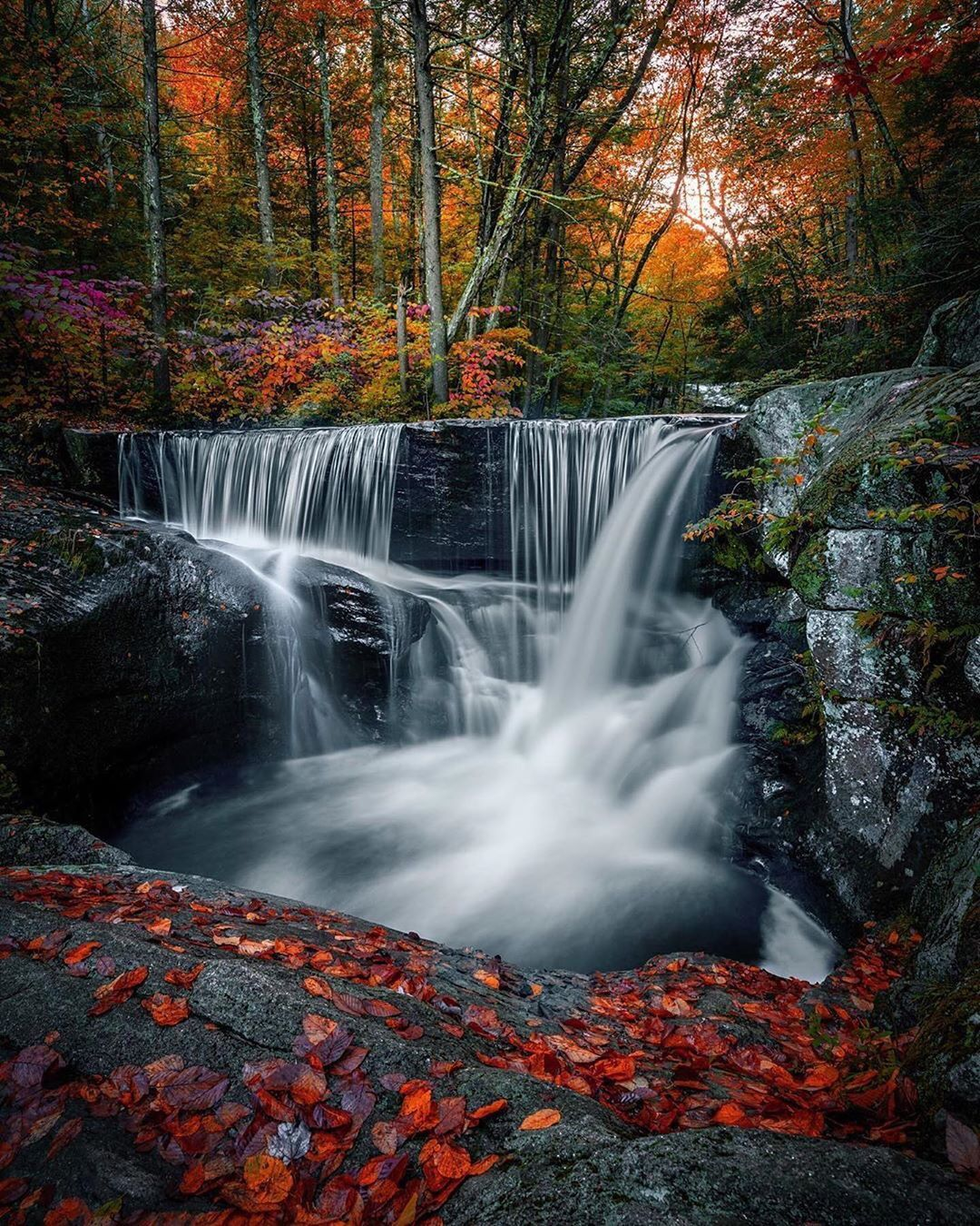 Landscape Photography On Instagram Beautiful River Running Waterfalls In Connecticut Life Is Like A Waterfall Photography Waterfall Landscape Photography