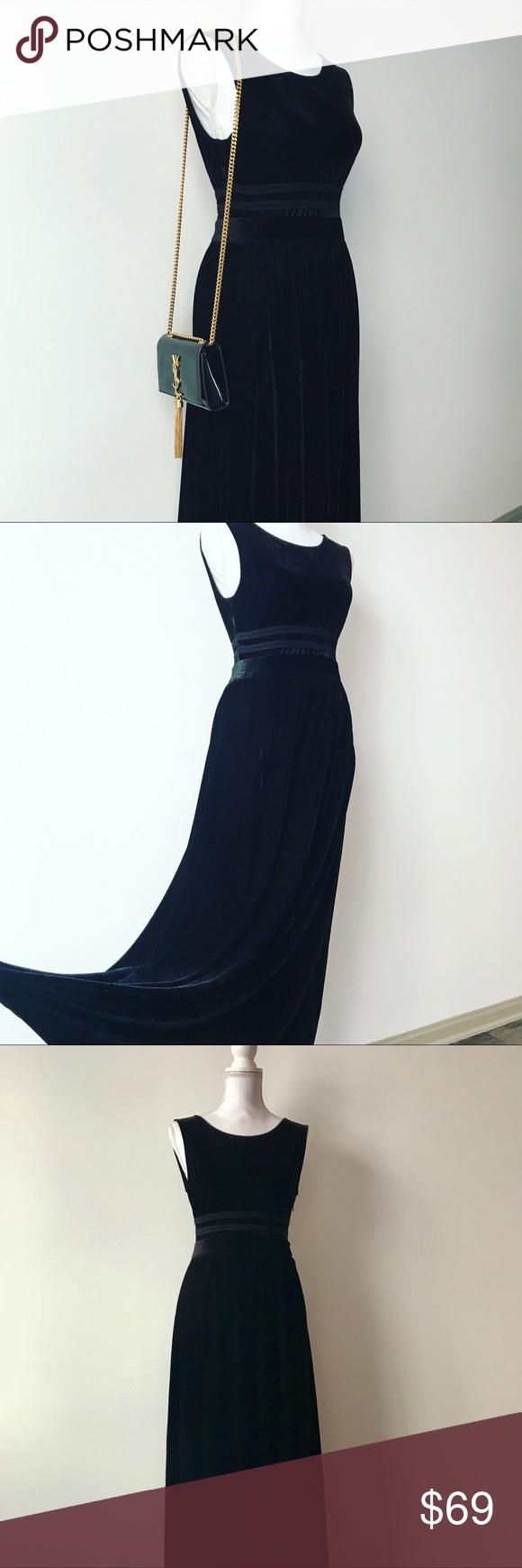 Stunning black velvet dress velvet material black velvet and