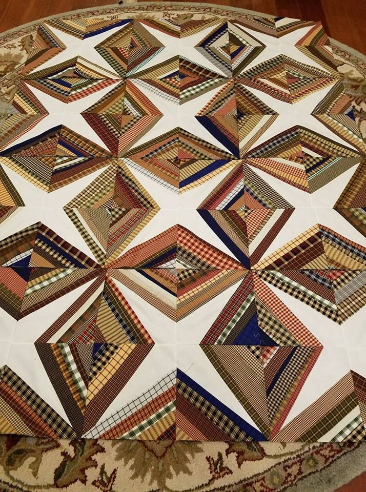beautiful string quilt Pattern for this available on Bonnie Hunter's