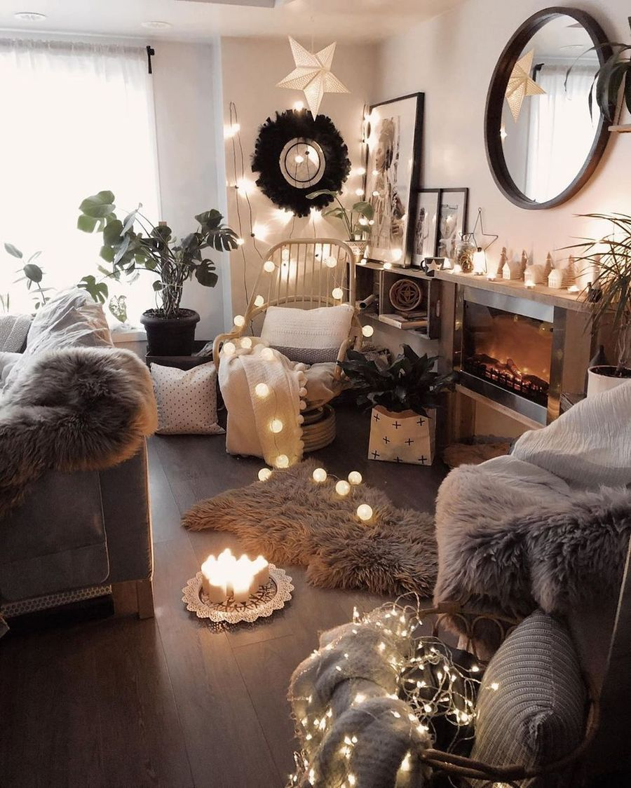 25 Scandinavian Christmas Living Room Decor Ideas Bohemian S