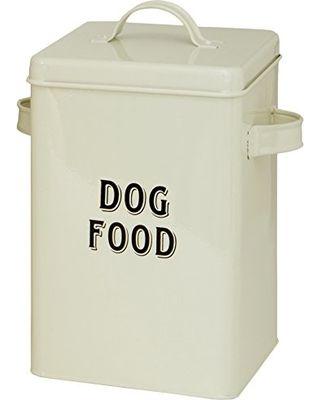Maturi Maturi Cream Metal Dog Food Storage Container Tin with Scoop from Amazon | BHG.com Shop
