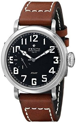 http://ift.tt/2plTSrn Check Price https://goo.gl/Cgp3Fn  Zenith Men's 031930681.21C Pilot Analog Display Swiss Automatic Brown Watch                            Stainless steel case with a brown leather strap. Fixed stainless steel bezel. Black dial with silver-tone hands and Arabic numeral hour markers. Minute markers around the outer rim. Dial Type: Analog. Luminescent hands and markers. Small seconds sub-dial at the 9 o'clock position. Automatic movement with a 50 hour power reserve…