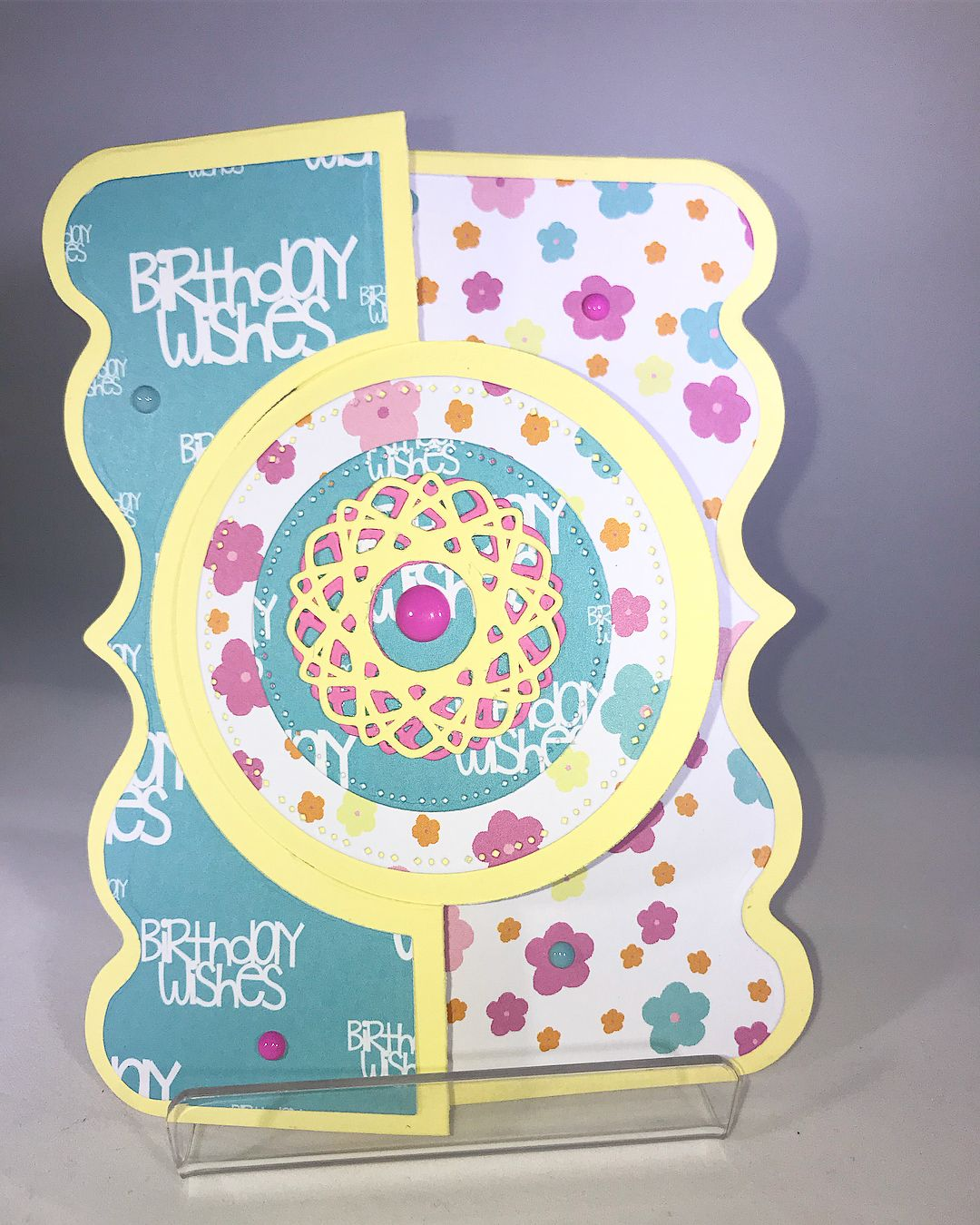 b2fe16fbf Handmade Birthday Card made by Donna DeCaro for CardsByDeCaro using Sizzix  The Stamps of Life Stephanie Barnard fancy edge flip-its metal dies