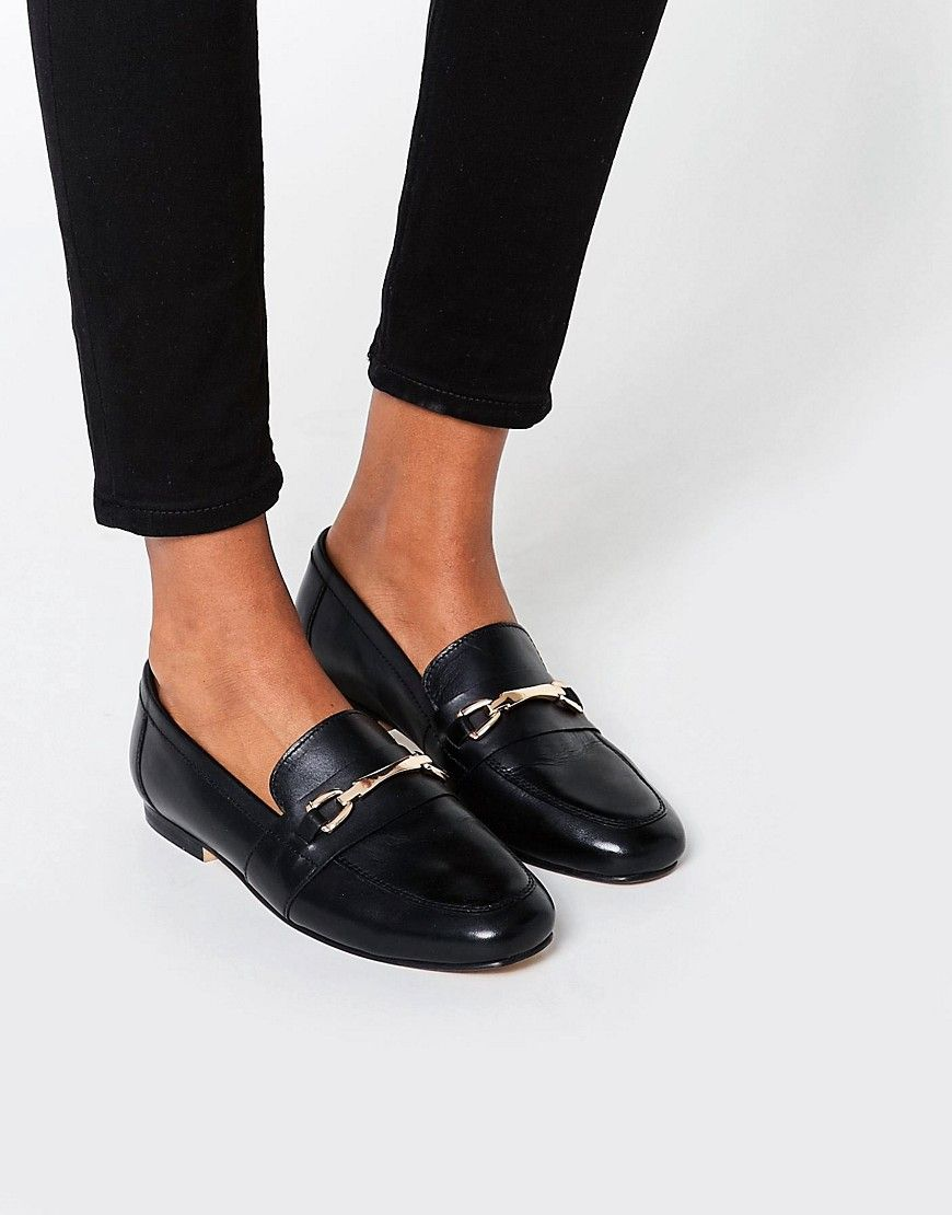 fbe57d9fa52 ASOS MOVEMENT Leather Loafers - Black