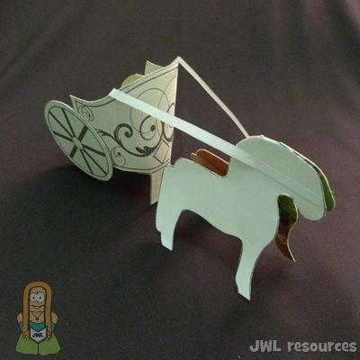 Free template to cut & make paper chariot and horse. Oh so many ...
