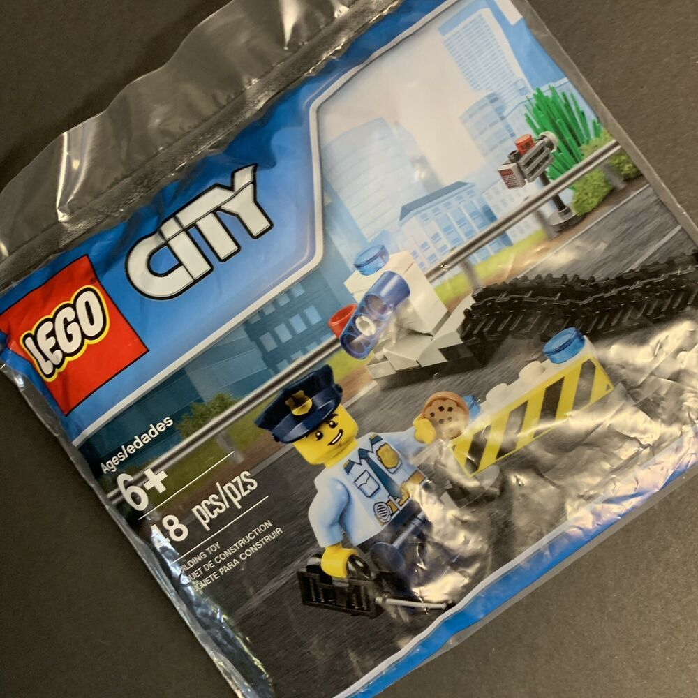 Lego 6182882 City Police Road Block Polybag 48 Pcs For Sale Online Ebay Lego City Police Lego City Sets Lego City