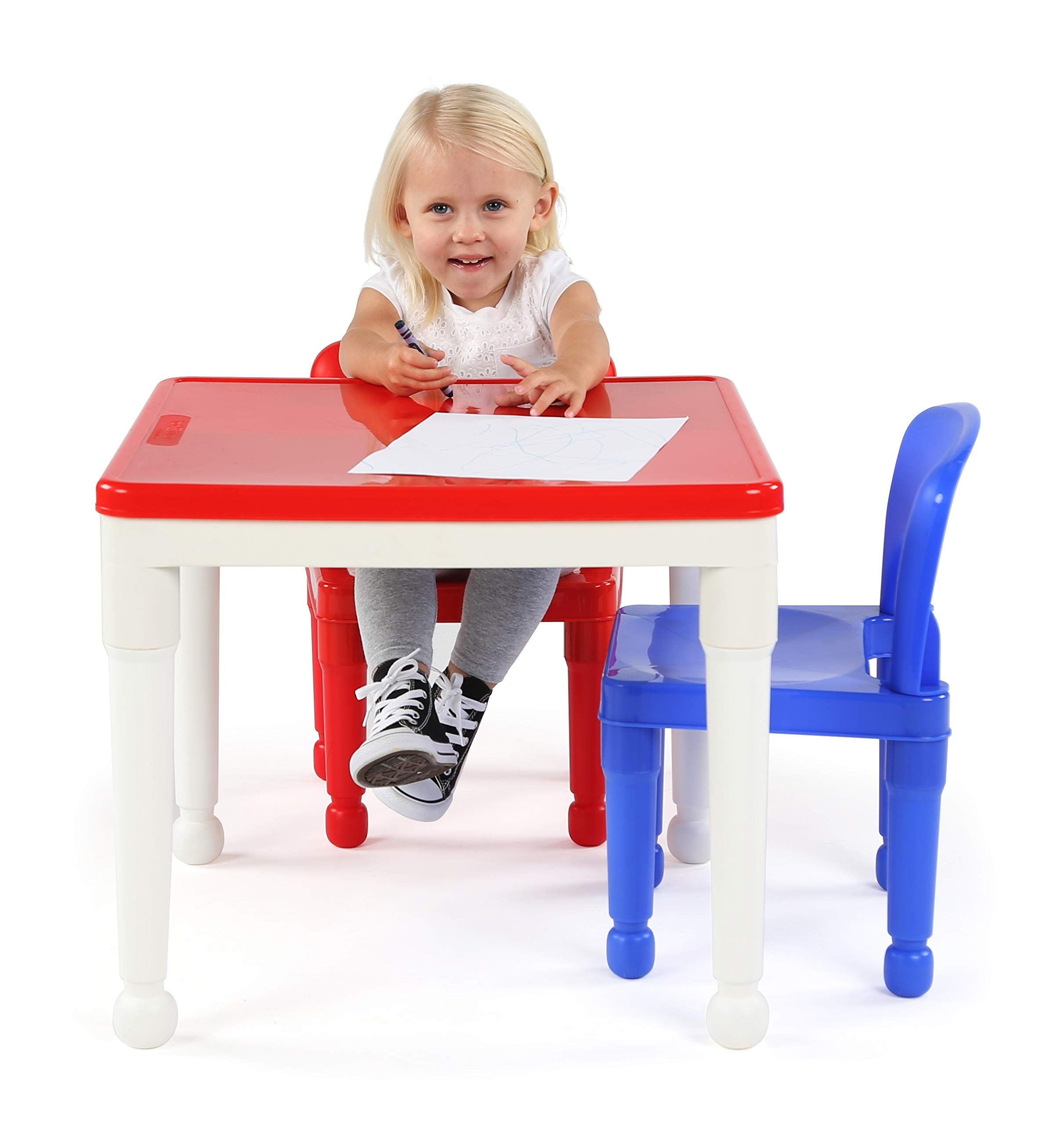 Tot Tutors Kids 2in1 Plastic Building Blockscompatible Activity Table And 2 Chairs Set Square Primary Colors Read More A In 2020 Kids Furniture Kids Primary Colors