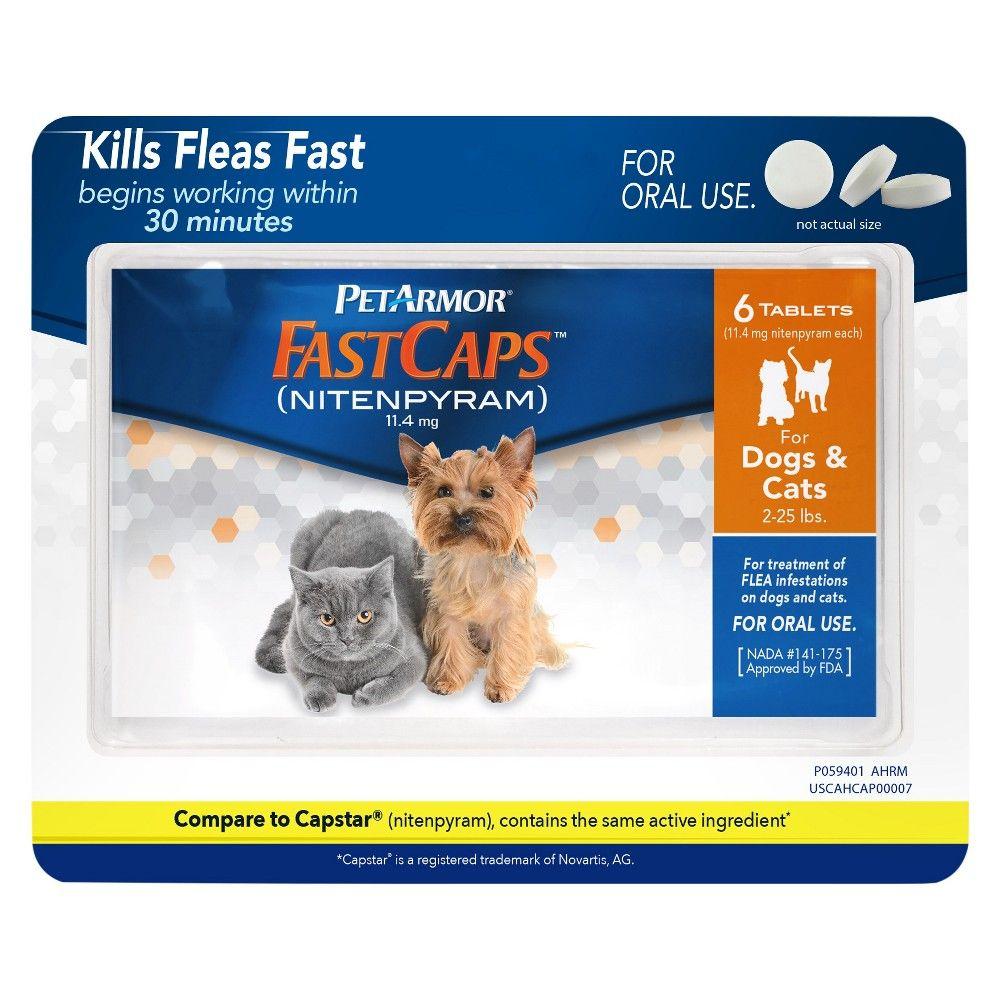 Petarmor Fastcaps Nitenpyram For Dogs Cats 2 25 Lbs Products Cat Fleas Dog Flea Treatment Flea Medicine For Cats